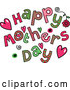 Vector of Colorful Sketched Happy Mothers Day Text by Prawny