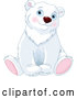 Vector of Cute Adorable Sitting Polar Bear by Pushkin