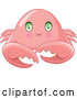 Vector of Cute Baby Crab with Green Eyes by Pushkin