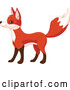 Vector of Cute Fox Standing and Facing Left by Pushkin