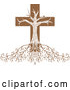 Vector of Deeply Rooted Crucifix Tree by Inkgraphics