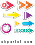 Vector of Digital Collage of Colorful Arrow Design Elements by KJ Pargeter