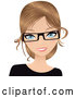 Vector of Dirty Blond White Secretary Wearing Glasses by Melisende Vector