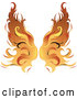 Vector of Flaming Golden Wings by Pams Clipart