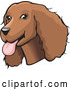Vector of Friendly Brown Cocker Spaniel Dog with Its Tongue Hanging out of Its Mouth by David Rey