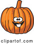 Vector of Friendly Buck Toothed Orange Pumpkin Character by David Rey