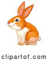 Vector of Ginger Bunny Rabbit Sitting by Graphics RF