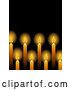 Vector of Glowing Yellow Candles over Black by Elaineitalia
