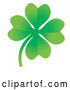 Vector of Good Luck Four Leaf Clover by AtStockIllustration