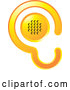 Vector of Gradient Yellow Ear Design with a Speaker by Lal Perera