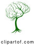 Vector of Green Brain Tree by AtStockIllustration