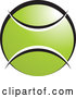 Vector of Green White and Black Tennis Ball with Blank Text Space by Lal Perera