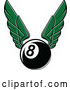 Vector of Green Winged Billiards Eightball by Vector Tradition SM