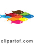 Vector of Group of Colorful Schooling Fish 3 by ColorMagic
