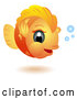 Vector of Happy Cartoon Big Headed Baby Goldfish by BNP Design Studio