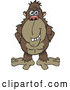 Vector of Happy Cartoon Brown Ape by Dennis Holmes Designs