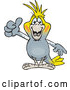 Vector of Happy Cartoon Cockatiel Bird Giving a Thumb up by Dennis Holmes Designs