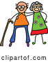Vector of Happy Cartoon Elderly Couple by Prawny