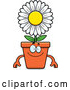 Vector of Happy Cartoon Flower Pot Mascot by Cory Thoman