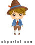 Vector of Happy Cartoon Italian Boy in Traditional Clothes by BNP Design Studio