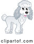 Vector of Happy Cartoon Poodle Dog by Visekart