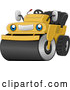 Vector of Happy Cartoon Road Roller Machine by BNP Design Studio