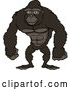 Vector of Happy Cartoon Strong Gorilla Standing by Cartoon Solutions
