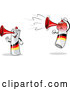 Vector of Happy Mad Cartoon German Air Horn Characters by Holger Bogen