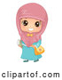 Vector of Happy Muslim School Girl by BNP Design Studio
