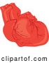 Vector of Human Heart with Veins by Rosie Piter