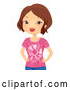 Vector of Lady Wearing a Tie Dye T Shirt by BNP Design Studio