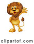 Vector of Male Lion Waving by Graphics RF