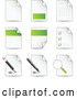 Vector of Nine Letters and Files with Check Lists, Magnifying Glasses, Pens and Pencils by Beboy