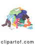 Vector of Pile of Dirty Clothes for the Laundry by BNP Design Studio