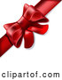 Vector of Present Wrapped with a Red Bow and Ribbon by Leo Blanchette