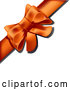 Vector of Present Wrapped with an Orange Bow and Ribbon by Leo Blanchette