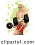 Vector of Professional Strong Guy Lifting Dumbbells by Mayawizard101