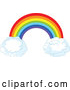 Vector of Rainbow Arch over White Puffy Cloud by Pushkin
