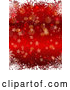 Vector of Red Christmas Background of Snowflakes Bokeh and Stars by KJ Pargeter