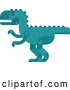 Vector of Robotic Styled Teal Tyrannosaurus Rex Dinosaur by Vector Tradition SM