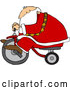 Vector of Santa Claus Testing Trike by Djart