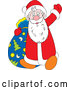 Vector of Santa Claus Waving Hello by Alex Bannykh
