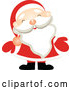 Vector of Santa Claus Wearing Red Mittens by OnFocusMedia