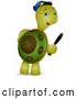 Vector of Security Guard Tortoise Carrying a Baton by BNP Design Studio