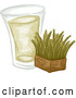 Vector of Shot of Wheat Grass and a Block by BNP Design Studio