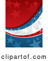 Vector of Starry Red, White and Blue Sparkly Americana Background by David Rey