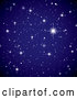 Vector of Twinkling Starry Night Sky Background by Michaeltravers