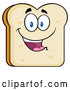 Vector of White Sliced Bread Character Mascot by Hit Toon