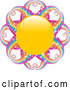 Vector of Yellow Sun with Magical, Sparkling Rainbow Rays by Elaineitalia