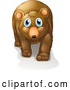 Vector of Young Brown Bear with Blue Eyes by Graphics RF